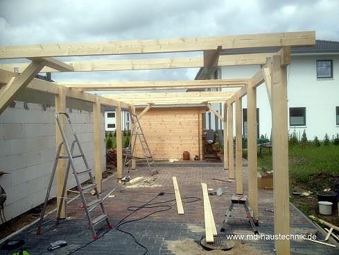 Wir bauen ihren carport md haustechnik flensburg for Carport flensburg